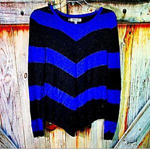 💟 JENNIFER LOPEZ M/ blue and black sweater 💟